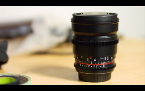 Brand New 10/10 Condition Rokinon 16mm cine DS LENS