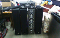 4 JBL Northridge E80 tower speakers and centre channel