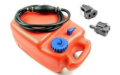Tankset Außenbordertank 12l Bootstank Quetschball Stecker Honda Benzintank Boot