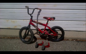 Kid's Bicycle with training wheels - $20