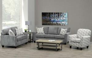 Sofa Set - 3 Piece - Grey 3 pc Set / Grey