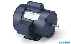 3 4 Hp Leeson 110108 3450 Tefc 115 230v Single Phase Electric Motor 56 Frame Ebay