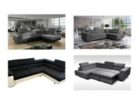 3 COLOURS / CORNER SOFA BED HAND SIDE / FREE DELIVERY ON SUNDAY