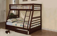 ....█CLEARANCE█...Detachable, Solid wood bunk bed with 2 drawers