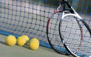 One hour tennis/squash racquet stringing