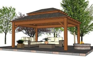 Gorgeous Pergola,Pavilion,Gazebo Kit FY Outdoor Space  Belleville Belleville Area image 2