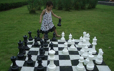 "Giant Plastic Chess Set with a 12"" King - Garden Chess Set - Outdoor Chess Set"