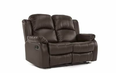 Double Reclining Loveseat Sofa Bonded Leather Living Room Re