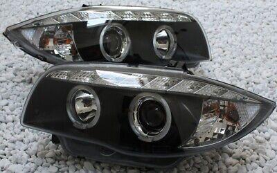 Scheinwerfer Set Satz Angel Eyes E81 E82 E87 E88 Bj 2004-2011 klar schwarz