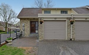 End Unit Townhouse (Like Semi) By The Lake!!!!