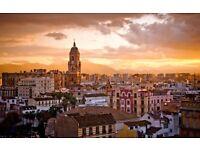 Return flight to Malaga, Spain