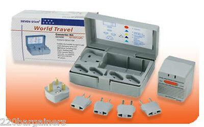 220V 110V Voltage Converter Adapters 5 Plugs 50w 1600 watt Convert 220 110 Volt