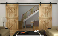 Double barn door hardware - Starting at $300 - soft close