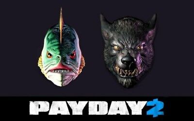 Payday 2 Masks Halloween (PAYDAY 2 Halloween 2014 Lycanwulf & The One Below Masks Steam Key)
