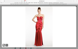 Red prom dress used once