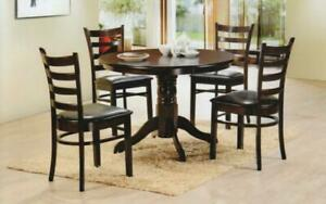 Kitchen Set with Solid Wood - 5 pc - Espresso 5 pc Set / Espresso