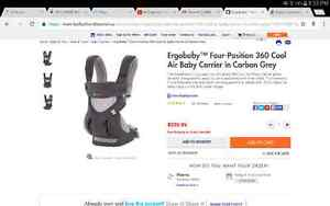 Almost New Ergobaby carrier 360