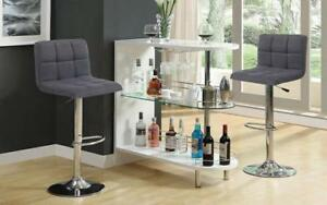Bar Set with Stools - 3 pc - Grey | Charcoal | Black | Red 3 pc Set / Charcoal