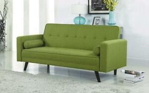 Fabric Sofa Bed with Arm Rest - Green Green
