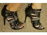 Well worn studded heels size 6