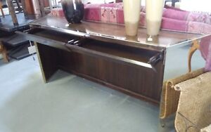 Console table with gold trim made by Caracole (Never Used)