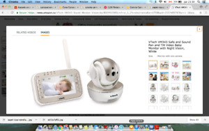 VTech VM343 Safe and Sound Pan and Tilt Video Baby Monitor with