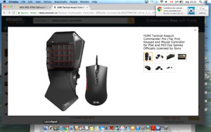 HORI Tactical Assault Commander Pro (Tac Pro) Keypad and Mouse C