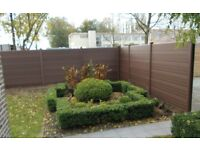 FOR SALE UPVC PLASTIC-FENCING-PANEL-ECO-FENCING Walnut- BROWN (6ft x 6ft)