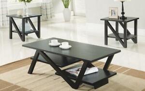 Coffee Table Set with Shelf - 3 pc - Espresso Espresso