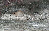 Placer gold claim on Tulameen river by Tulameen