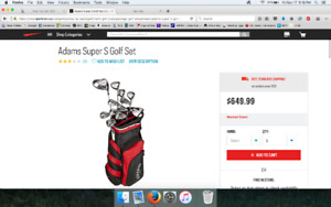Adams Super S Golf Set