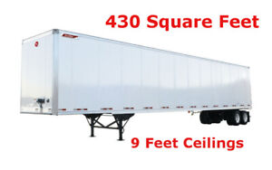 $0.50 per Square Foot - Storage Trailer Rentals