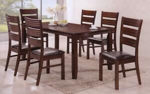 Kitchen Set with Solid Wood - 5 pc or 7 pc - Espresso 7 pc Set / Espresso