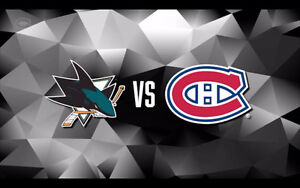 CANADIENS DE MONTREAL VS SAN JOSE SHARKS VENDREDI 16 DEC 7H30!