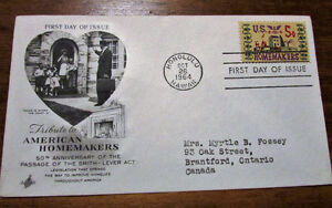 1964 Tribute to American Homemakers 5 Cent First Day Cover Kitchener / Waterloo Kitchener Area image 4