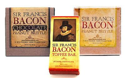 - SIR FRANCIS BACON GIFT SET- PEANUT &  CHOCOLATE BRITTLE + DARK CHOC TOFFEE