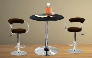 Bar Set with Stools - 3 pc - Black | White | Espresso | Red 3 pc Set / Espresso