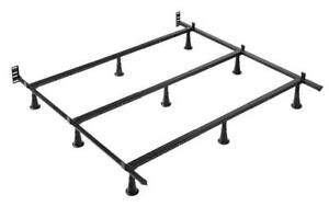 Deluxe Metal Bed Frame - Double Double / Black / Metal