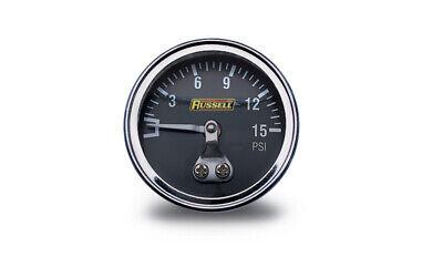 Russell 650350 Fuel Pressure Gauge 1.5 in Gauge 15 psi Fuel Pressure Gauge