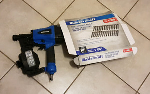 Mastercraft Air Powered Coil Roofing Nailer