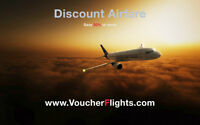 Discount Airline Tickets -30% Savings on all Flights -Worldwide