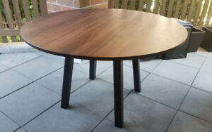 "45"" Round Dining Table - Solid Walnut Top"