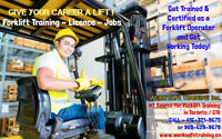 Forklift Training + Licence + Free JOB Help - Earn $14-$18hr