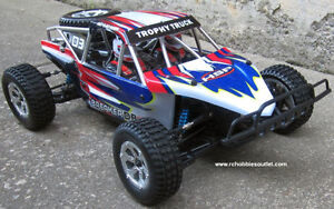 New RC Trophy Truck Brushless Electric,Baja style LIPO 2,.4G RTR