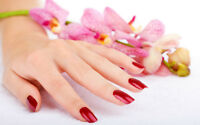 Free manicure with pedicure or facial