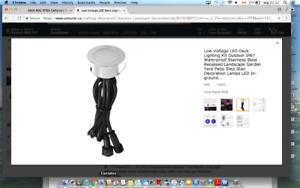 Low Voltage LED Deck Lighting Kit Outdoor IP67 Waterproof Stainl