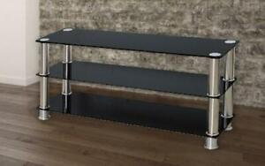 TV Stand with Chrome Legs - Black Black Canada Preview