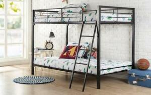Bunk Bed - Twin over Twin with Metal - Black Black