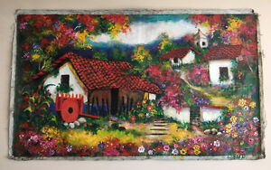 Traditional art scenes from Costa Rica