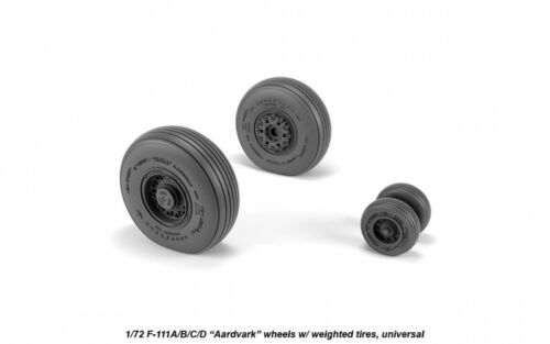 F-111 Aardvark early type wheels w/ weighted tires 1/72 Armory AW72337